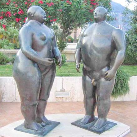 Адам и Ева. Скульптура в Монако.